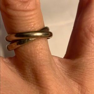 Silver rings - double band